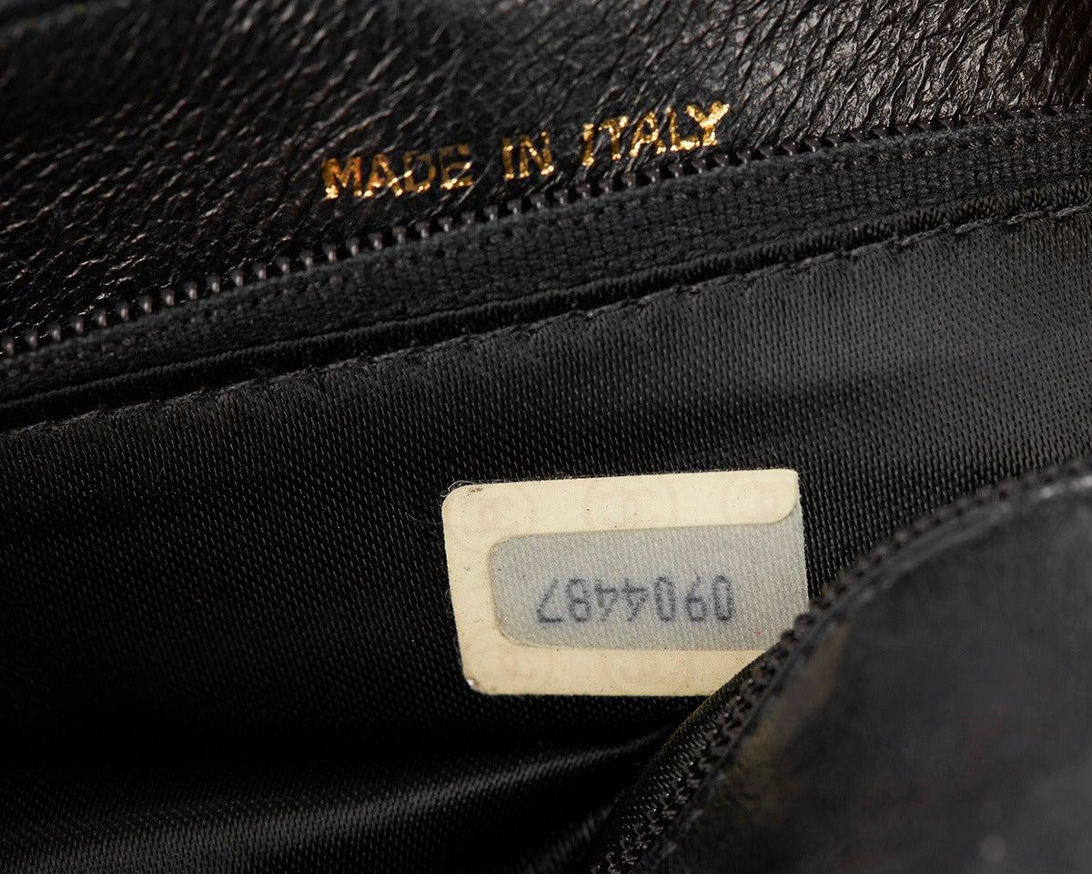 1990's Chanel Black Lambskin Vintage Flap Bag 8