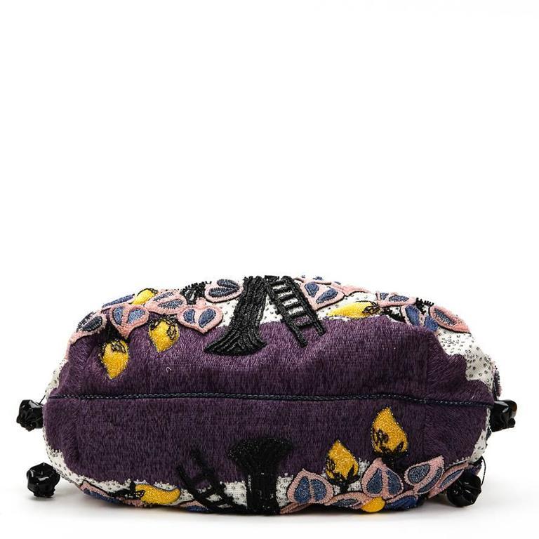 2000s FENDI Multicolour Embelished Floral Spy Bag For Sale 2