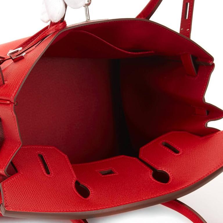 2016 Hermes Rouge Casque Epsom Leather Birkin 30cm 1