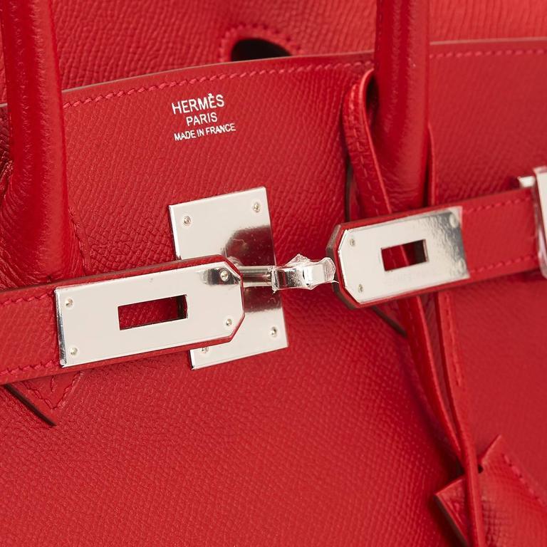 2016 Hermes Rouge Casque Epsom Leather Birkin 30cm 2