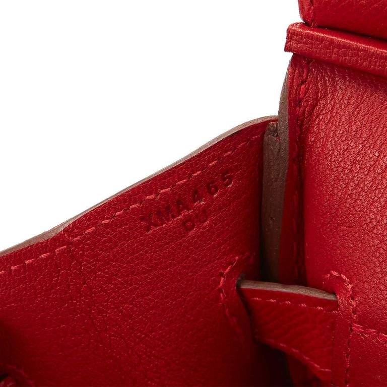 2016 Hermes Rouge Casque Epsom Leather Birkin 30cm 3