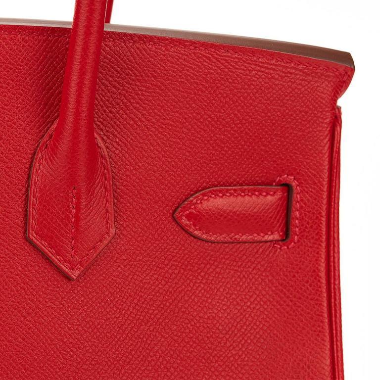 2016 Hermes Rouge Casque Epsom Leather Birkin 30cm 4