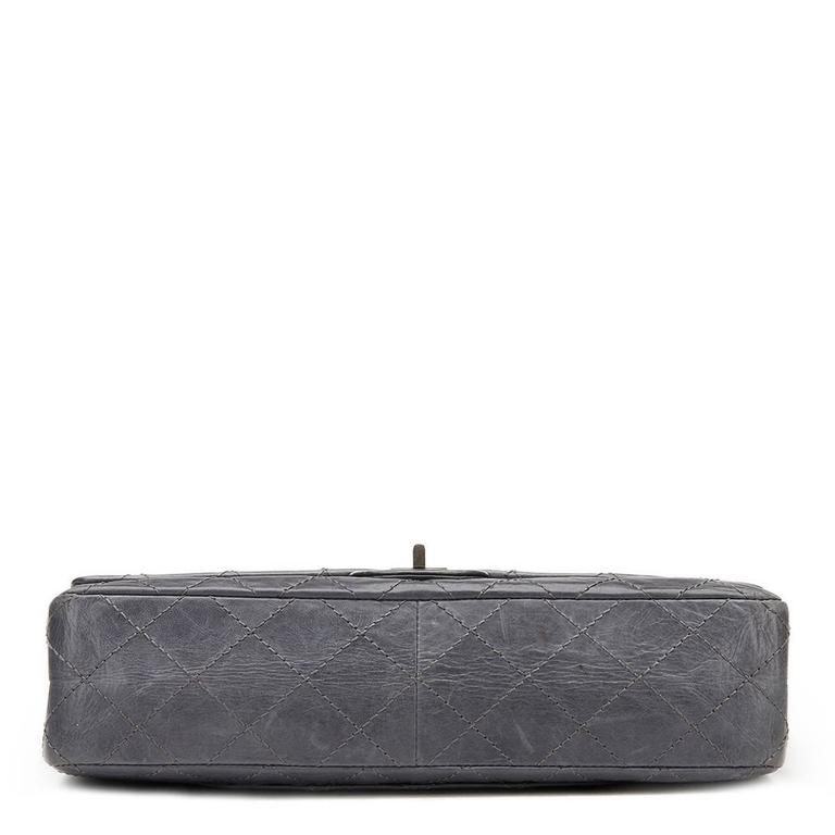 2834226569a753 CHANEL Grey Quilted Calfskin 50th Anniversary 2.55 Reissue 226 Double Flap  Bag This CHANEL 2.55 Reissue