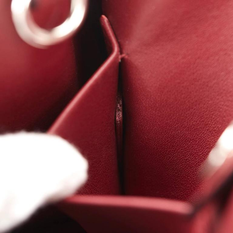 2014 Christian Dior Pink, Grey & Burgundy Calfskin Mini Diorissimo For Sale 1