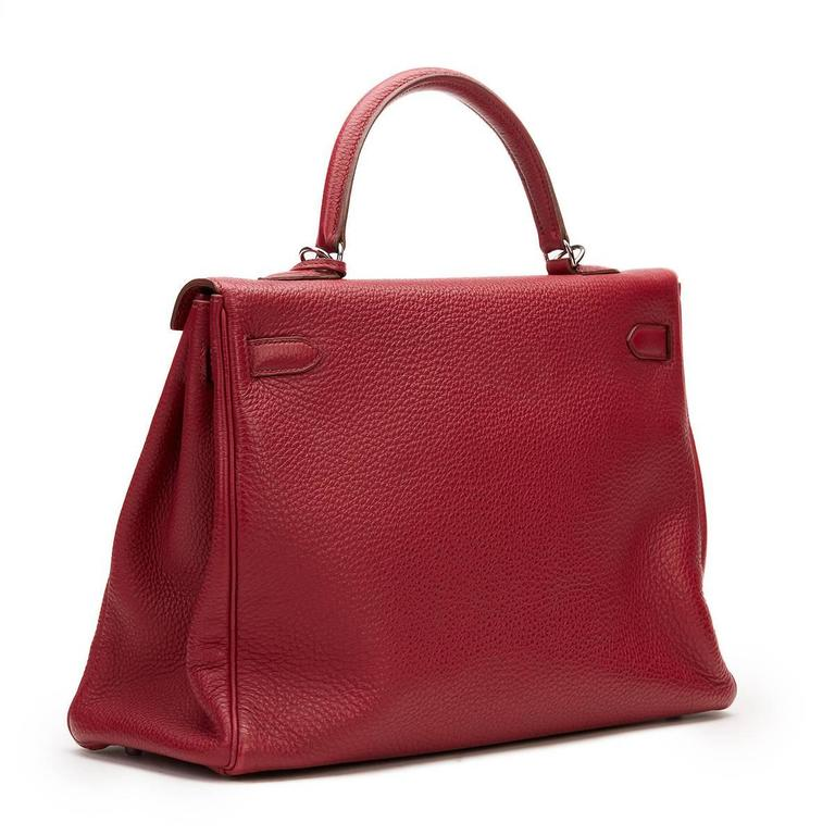 2010 Hermes Rubis Clemence Leather Kelly 35cm 5