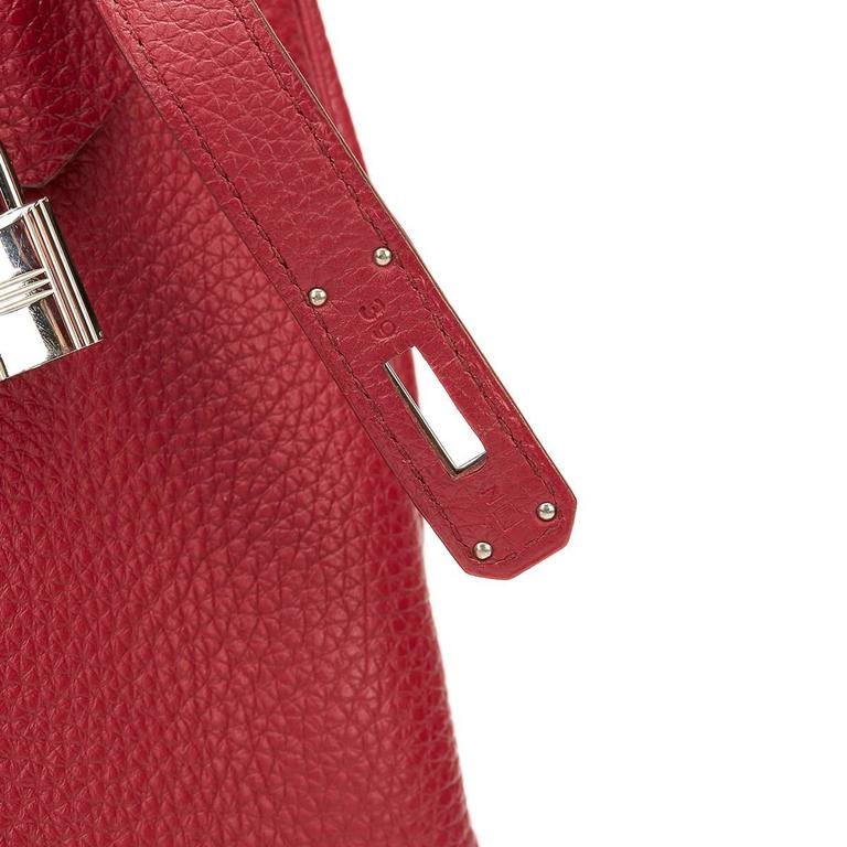 2010 Hermes Rubis Clemence Leather Kelly 35cm 6