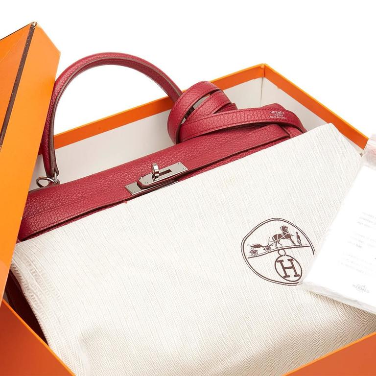 2010 Hermes Rubis Clemence Leather Kelly 35cm 10