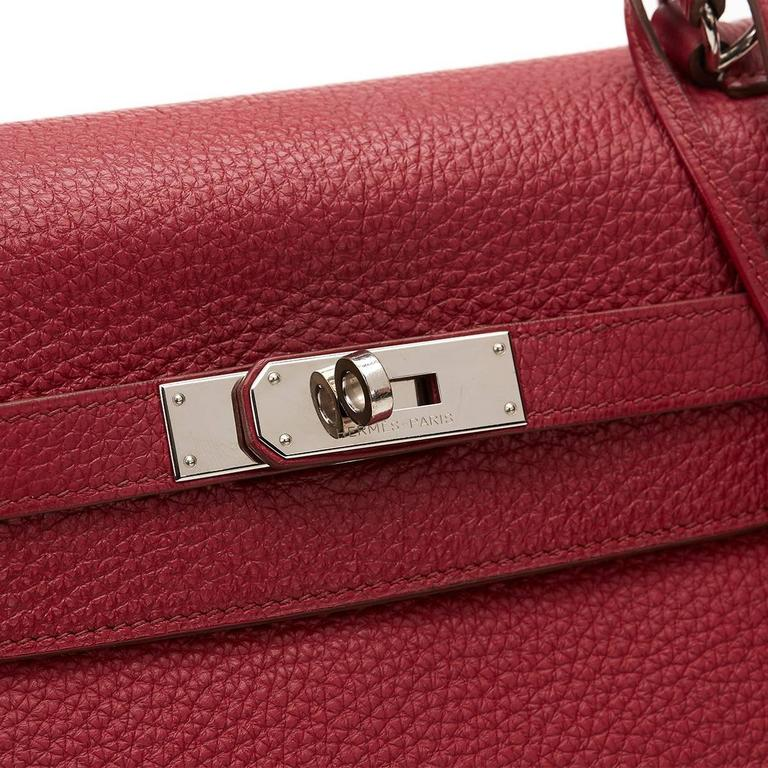 2010 Hermes Rubis Clemence Leather Kelly 35cm 8