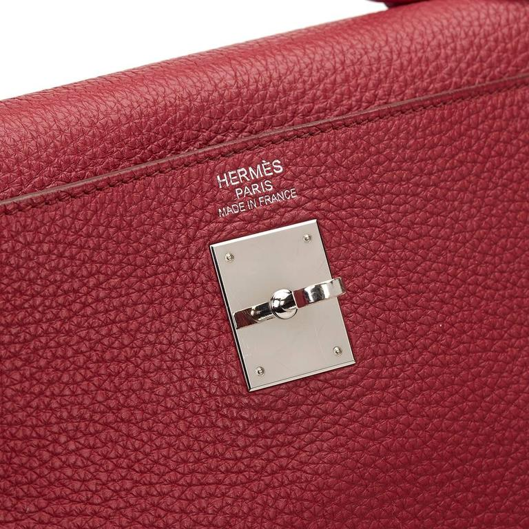 2010 Hermes Rubis Clemence Leather Kelly 35cm 9