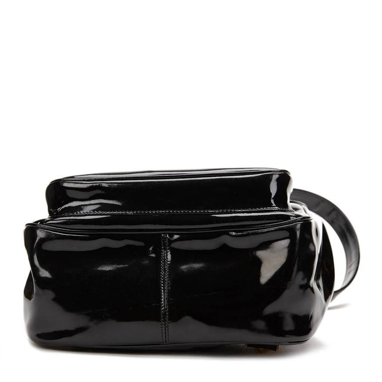 Women's 1990s Chanel Black Patent Leather Vintage Timeless Backpack For Sale