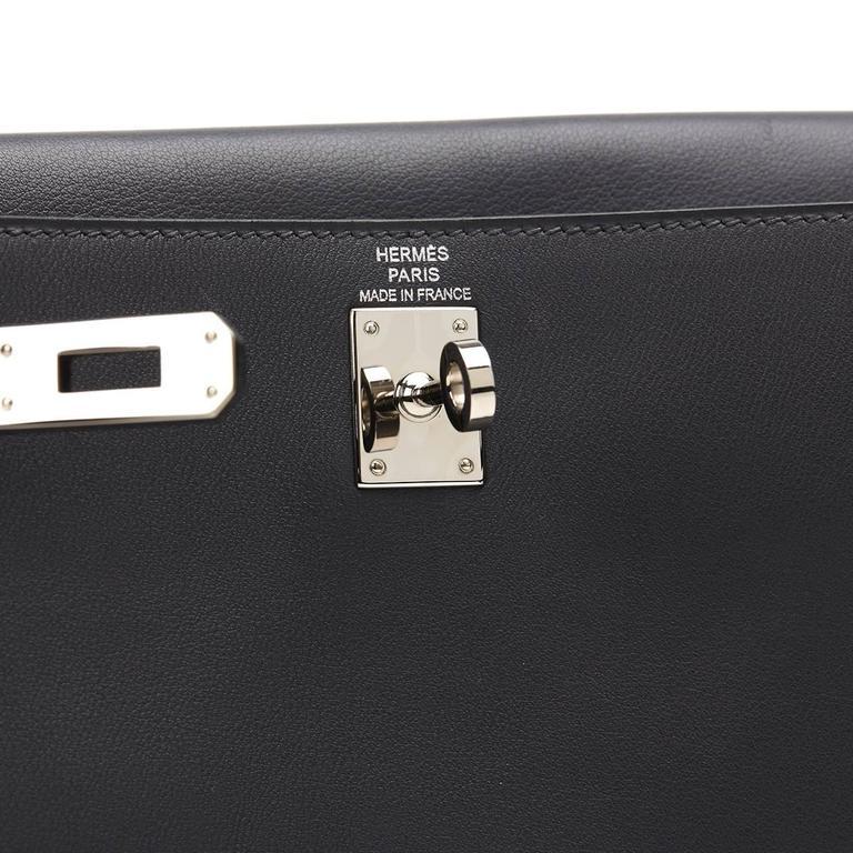 2007 Hermes Ardoise Grey Swift Leather Kelly Danse 5