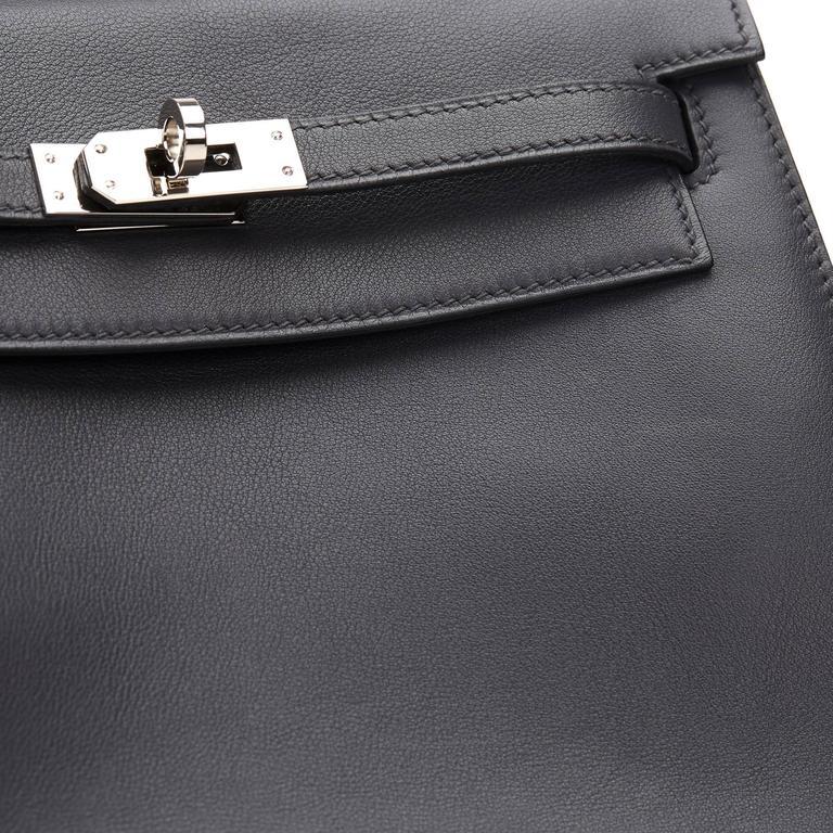 2007 Hermes Ardoise Grey Swift Leather Kelly Danse 7