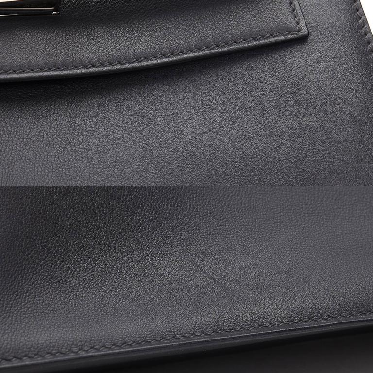 2007 Hermes Ardoise Grey Swift Leather Kelly Danse 8
