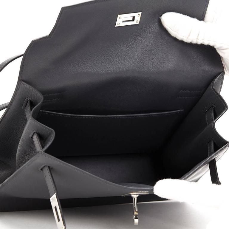 2007 Hermes Ardoise Grey Swift Leather Kelly Danse 9