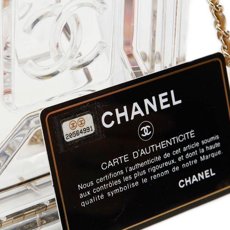 2010s Chanel Clear Plexiglass Dubai by Night Gas Can Minaudiere For Sale 4