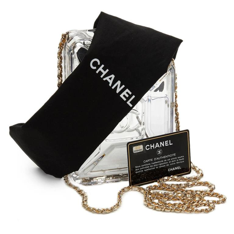 2010s Chanel Clear Plexiglass Dubai by Night Gas Can Minaudiere For Sale 5