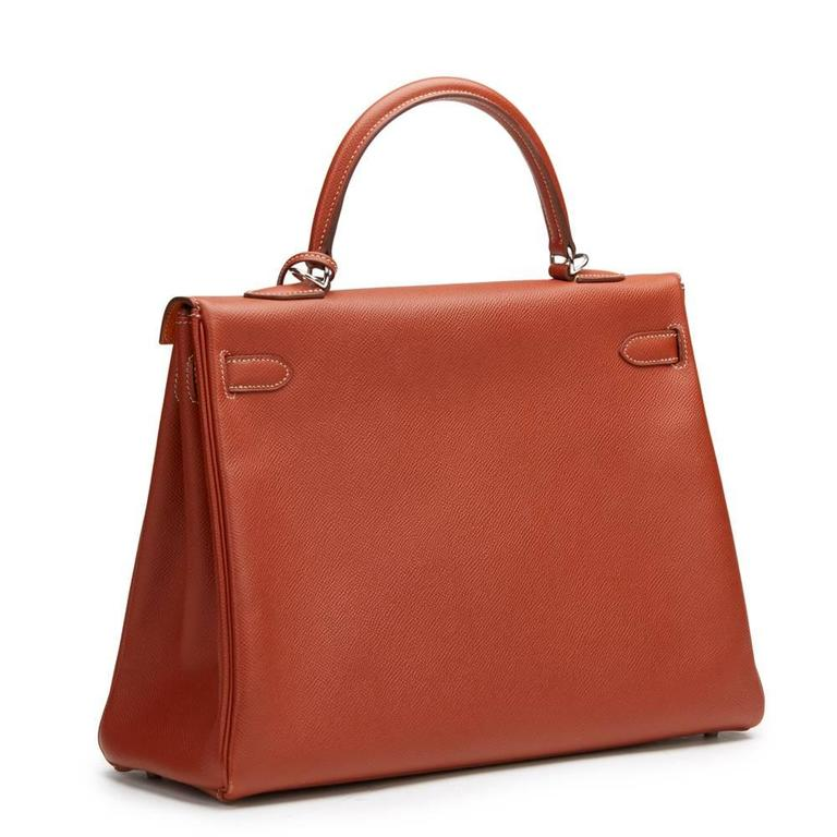 2012 Hermes Brique Epsom Leather Kelly Retourne 35cm 4
