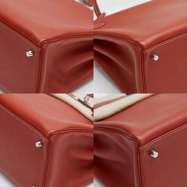 2012 Hermes Brique Epsom Leather Kelly Retourne 35cm 9