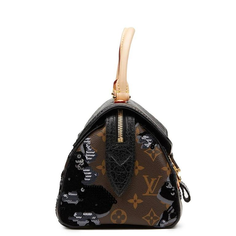 2010s Louis Vuitton Canvas, Calfskin & Sequin Fleur De Jais Carrousel  3