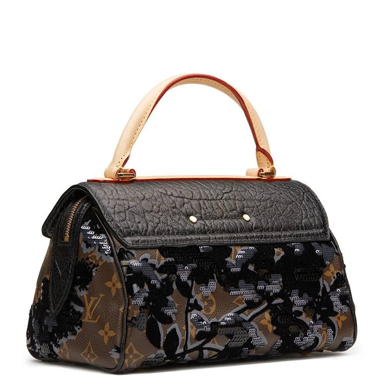 2010s Louis Vuitton Canvas, Calfskin & Sequin Fleur De Jais Carrousel  4