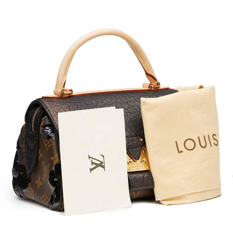 2010s Louis Vuitton Canvas, Calfskin & Sequin Fleur De Jais Carrousel  10