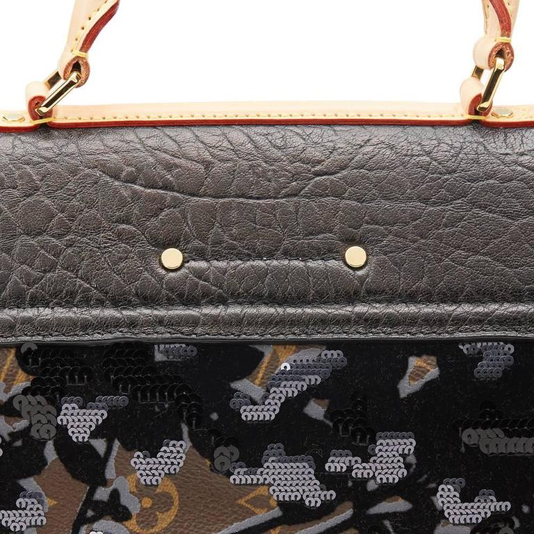 2010s Louis Vuitton Canvas, Calfskin & Sequin Fleur De Jais Carrousel  7