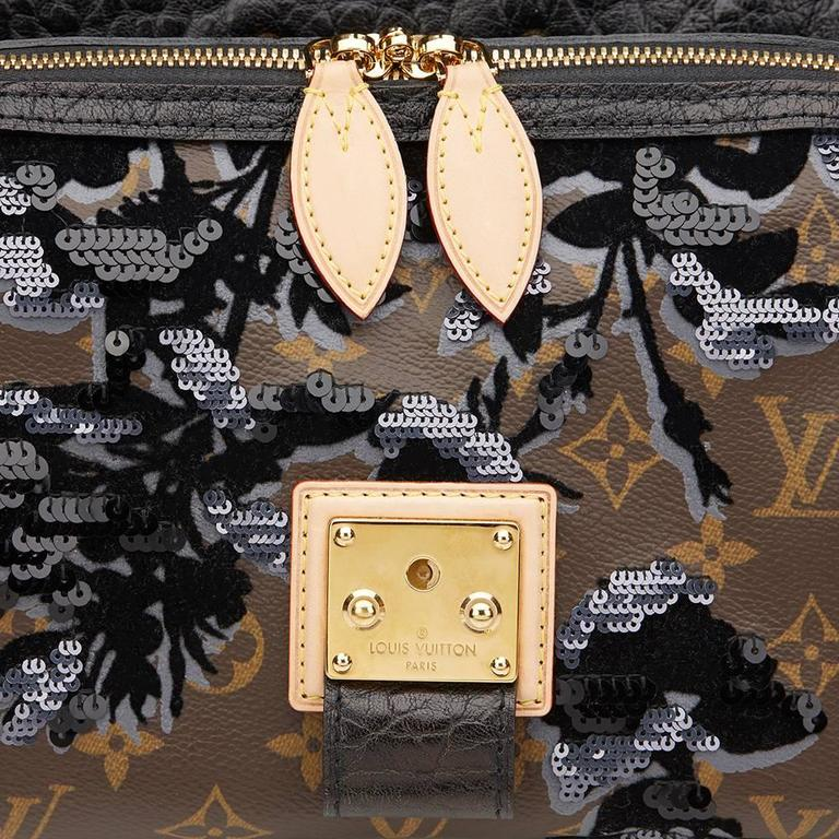 2010s Louis Vuitton Canvas, Calfskin & Sequin Fleur De Jais Carrousel  8