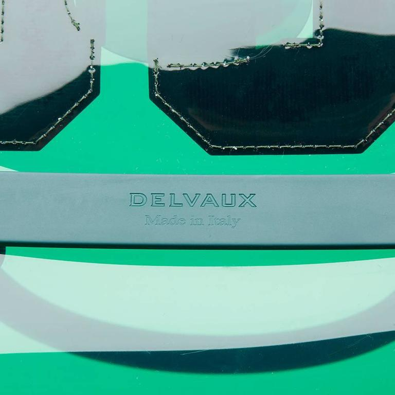 2017 Delvaux Green Tinted Vinyl 1829 Hero Brilliant MM For Sale 1