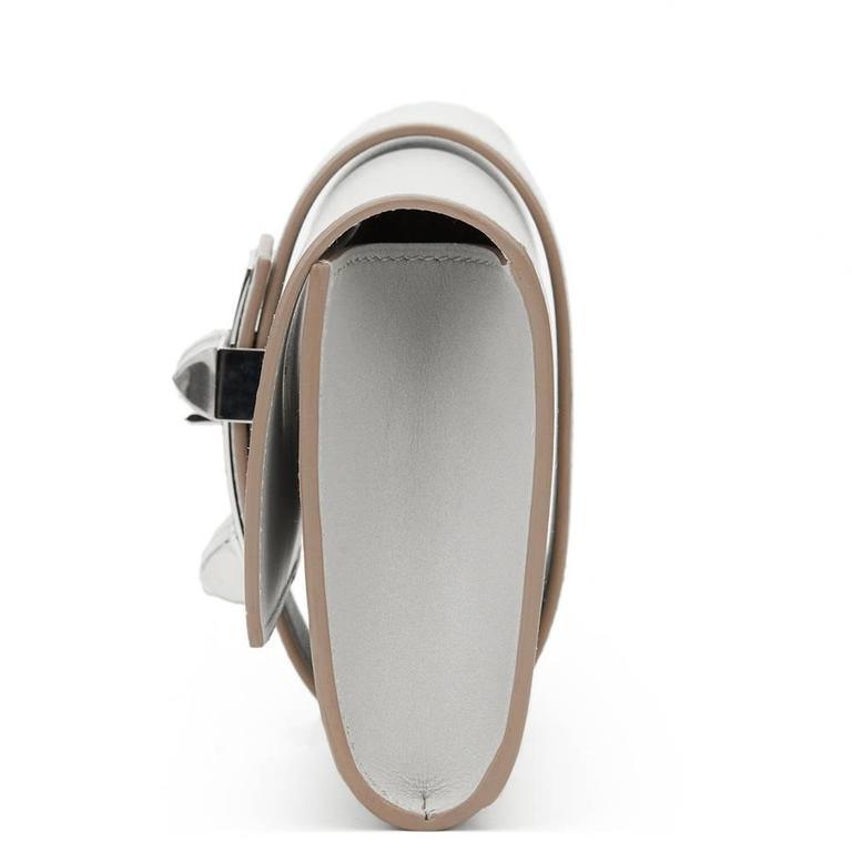 Gray 2015 Hermes Gris Perle Tadelakt Leather Medor 23 Clutch For Sale