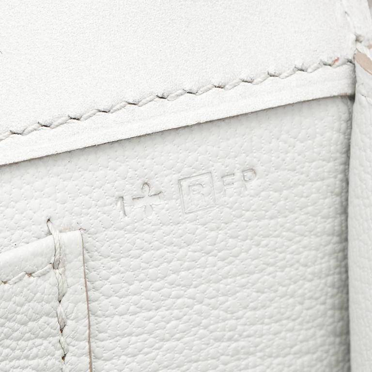 2015 Hermes Gris Perle Tadelakt Leather Medor 23 Clutch For Sale 5