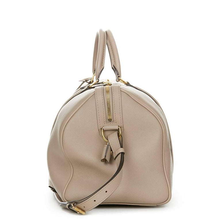 Brown 2013 Louis Vuitton Taupe Cachemire Leather Sofia Coppola MM For Sale