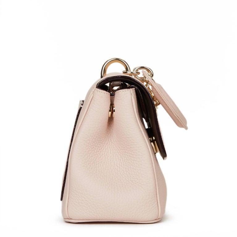 22c5f27ba2 Beige 2014 Dior Rose Poudre Grained Calfskin Mini Be Dior Flap Bag For Sale