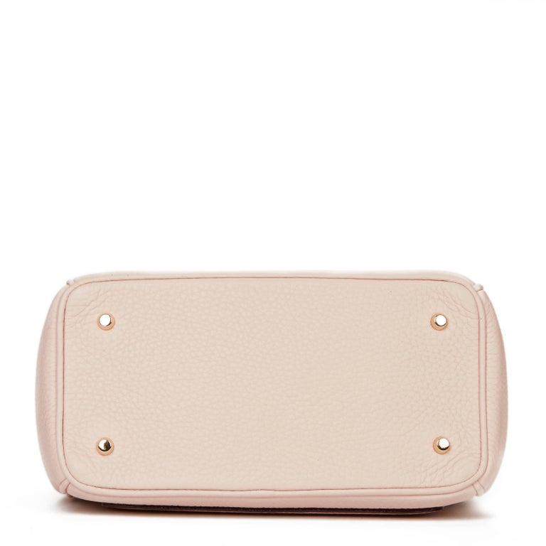 81a53d7b7a 2014 Dior Rose Poudre Grained Calfskin Mini Be Dior Flap Bag In Excellent  Condition For Sale