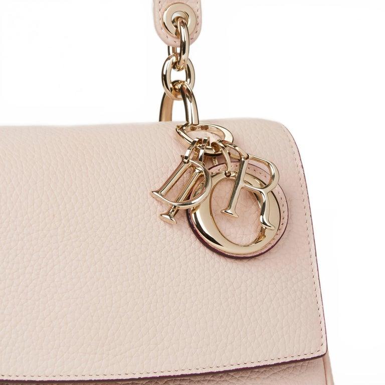 8e564e0334 2014 Dior Rose Poudre Grained Calfskin Mini Be Dior Flap Bag For Sale 1