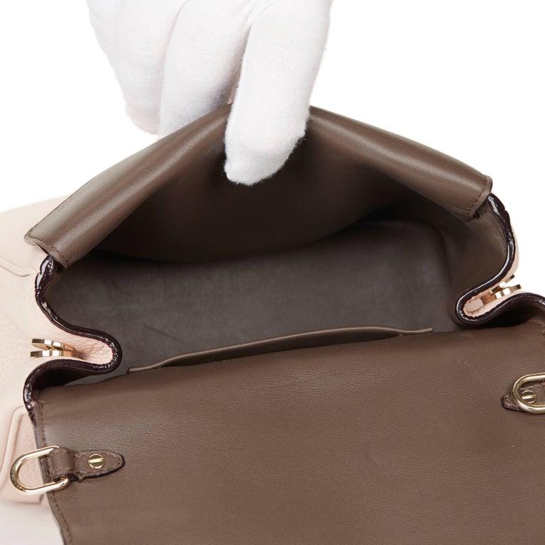 c5b7d9a06f 2014 Dior Rose Poudre Grained Calfskin Mini Be Dior Flap Bag For Sale 4