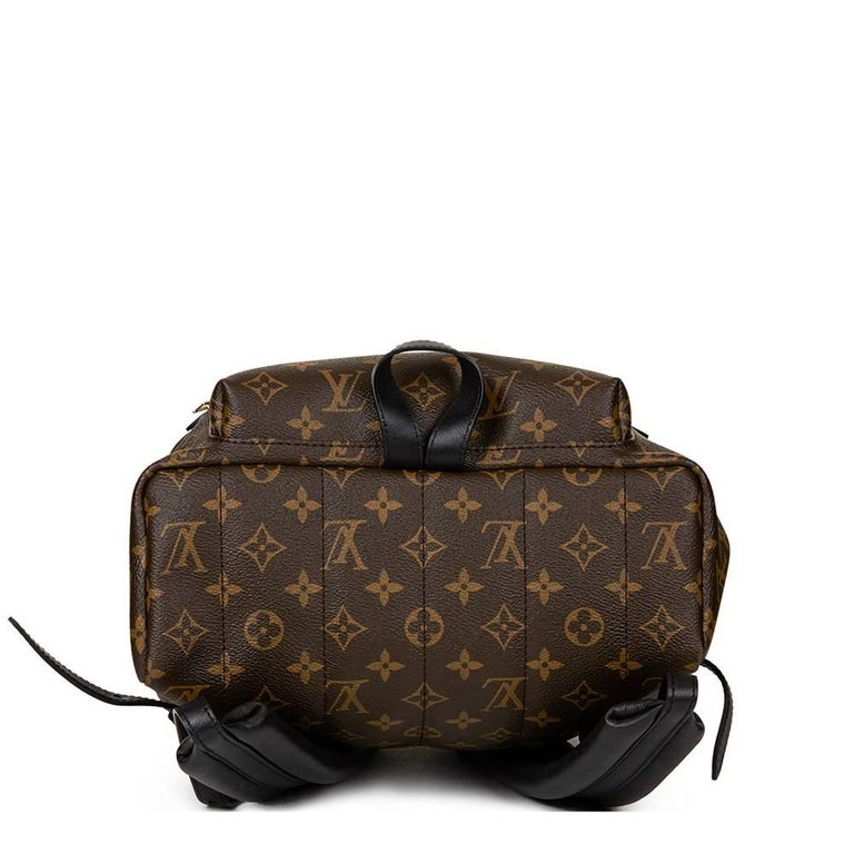 LOUIS VUITTON Brown Monogram Coated Canvas Palm Springs Backpack MM  This LOUIS VUITTON Palm Springs Backpack MM is in Excellent Pre-Owned Condition accompanied by Louis Vuitton Dust Bag, Box. Circa 2016. Primarily made from Coated Canvas, Calfskin