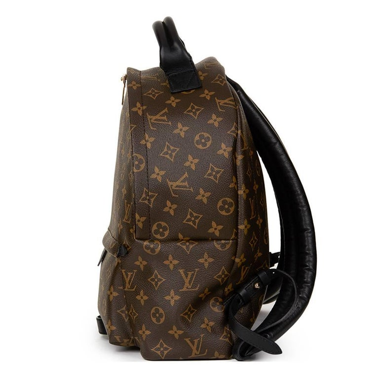 2016 Louis Vuitton Brown Monogram Coated Canvas Palm Springs Backpack MM In Excellent Condition For Sale In Bishop's Stortford, GB