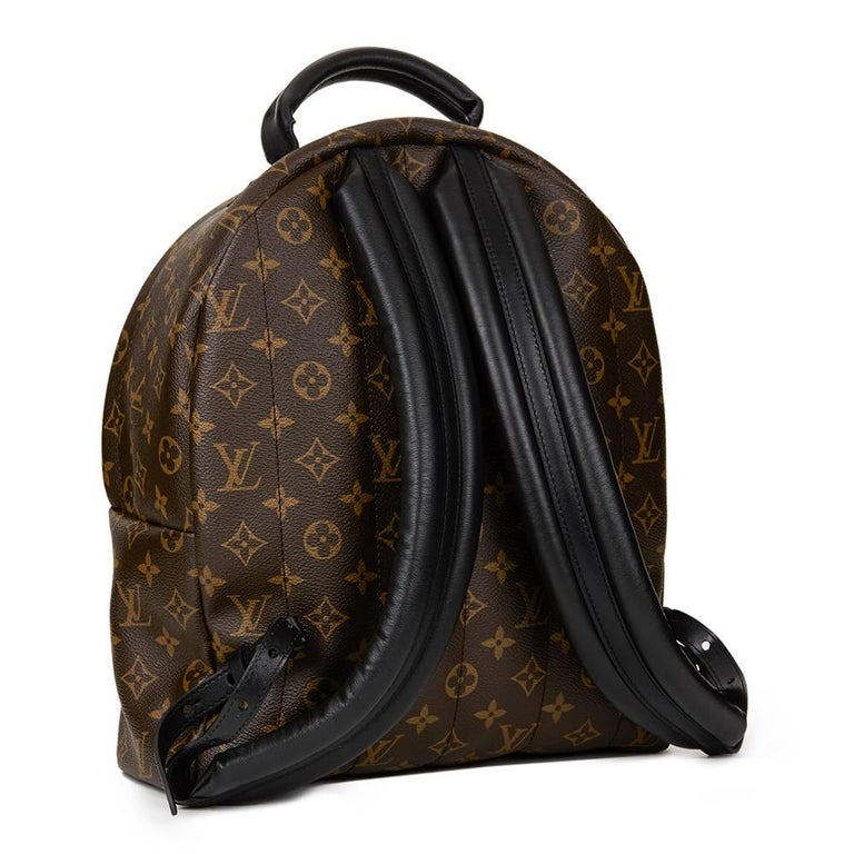 Women's 2016 Louis Vuitton Brown Monogram Coated Canvas Palm Springs Backpack MM For Sale