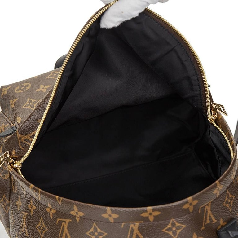 2016 Louis Vuitton Brown Monogram Coated Canvas Palm Springs Backpack MM For Sale 1