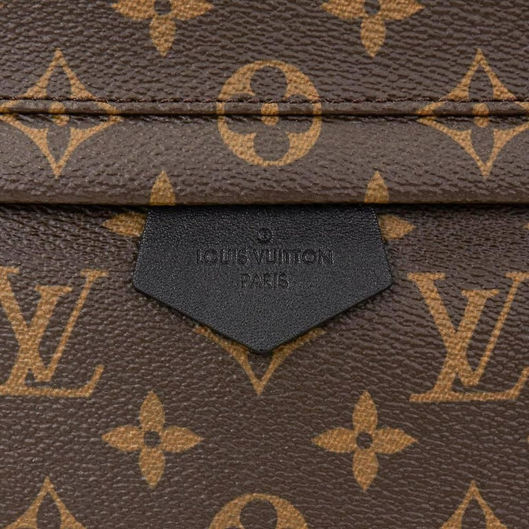 2016 Louis Vuitton Brown Monogram Coated Canvas Palm Springs Backpack MM For Sale 4