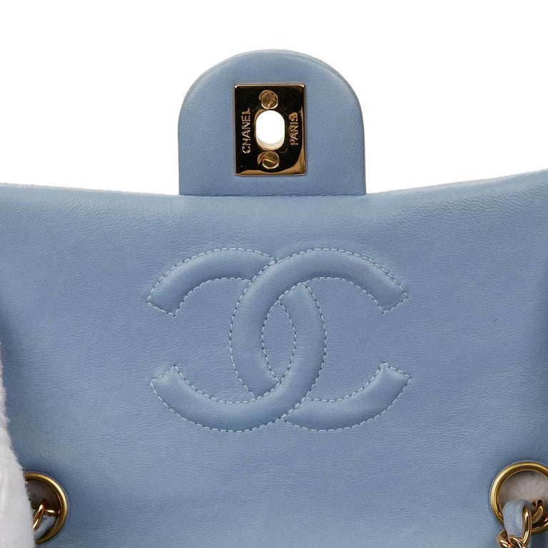 d554ef85165b 1990s Chanel Sky Blue Quilted Lambskin Vintage Mini Flap Bag at 1stdibs