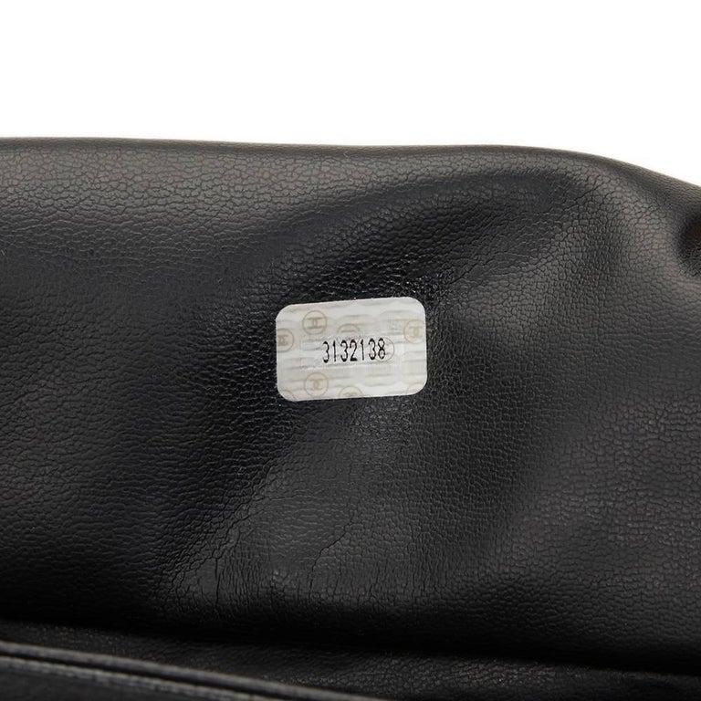 1990s Chanel Black Caviar Leather Vintage Timeless Shoulder Bag For Sale 3