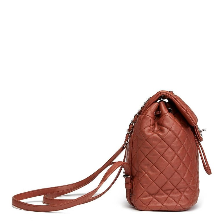 2016 Chanel Brick Brown Quilted Lambskin Small Urban Spirit Backpack 2