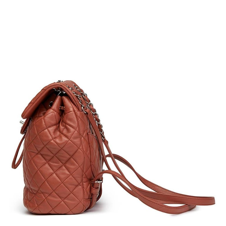 2016 Chanel Brick Brown Quilted Lambskin Small Urban Spirit Backpack 3