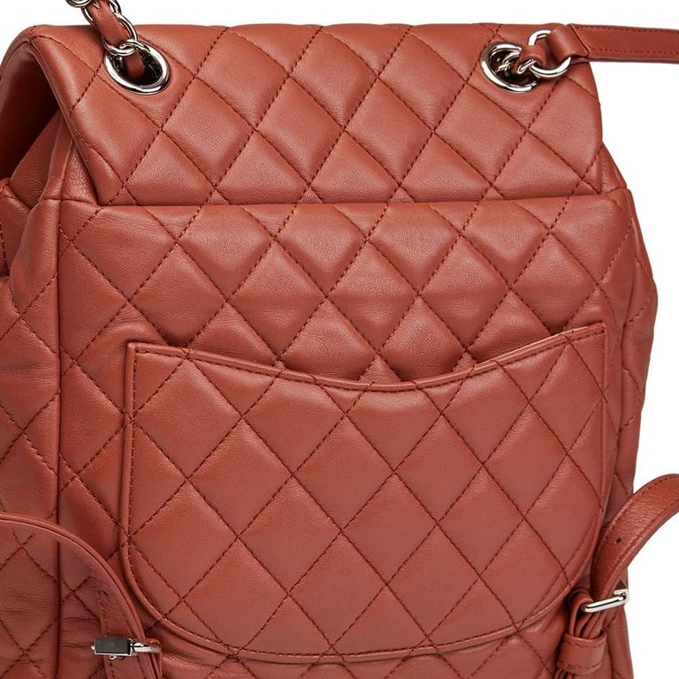 2016 Chanel Brick Brown Quilted Lambskin Small Urban Spirit Backpack 5