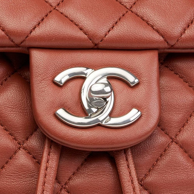 2016 Chanel Brick Brown Quilted Lambskin Small Urban Spirit Backpack 6