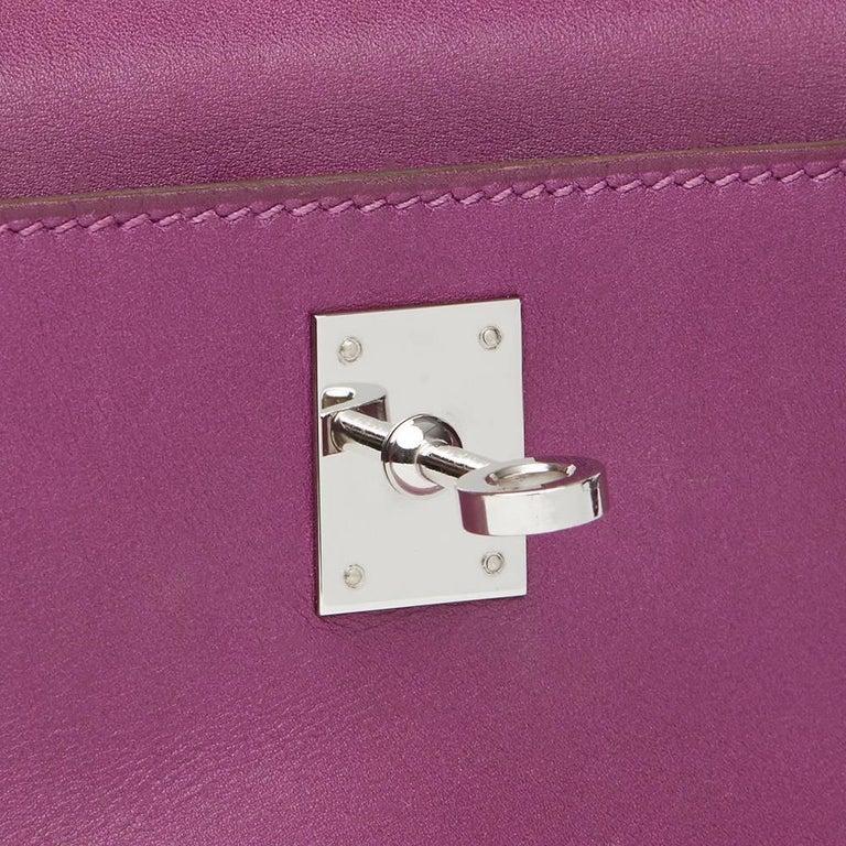 Women's 2010 Hermes Anemone Swift Leather Kelly Pochette  For Sale