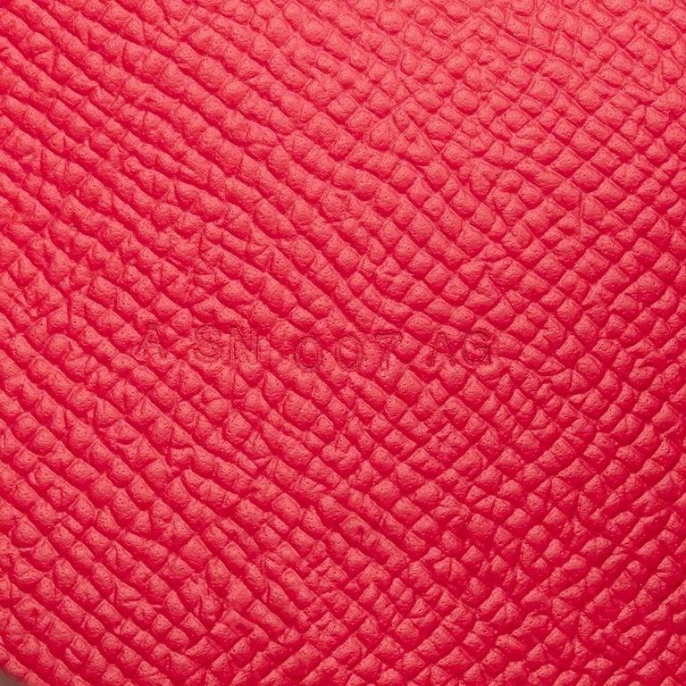 2017 Hermes Rose Extreme Epsom Leather Constance Long Wallet  For Sale 2