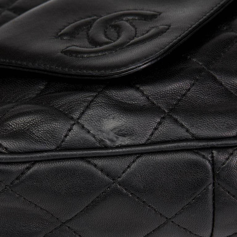 1990's Chanel Black Quilted Lambskin Vintage Tassel Camera Bag  For Sale 5