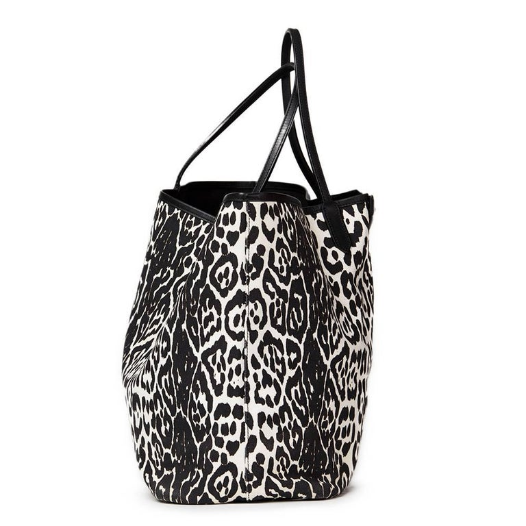 2011 Givenchy Black And White Leopard Print Canvas Large Antigona Tote In  Excellent Condition For Sale 5499c843cf